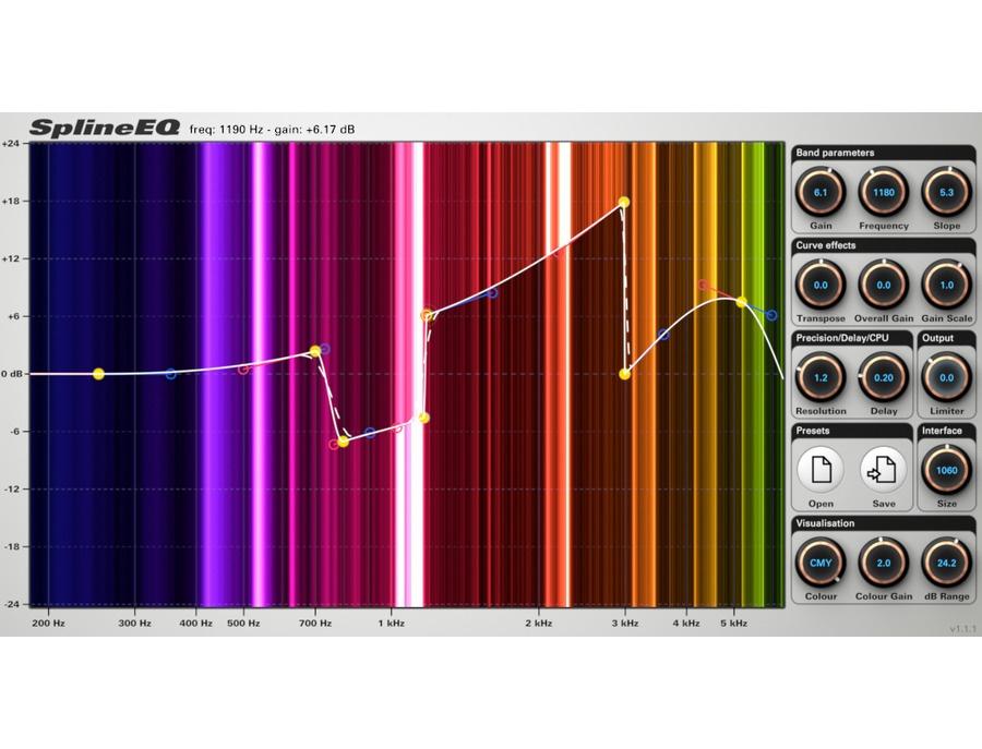 Photosounder splineeq equalizer plugin xl