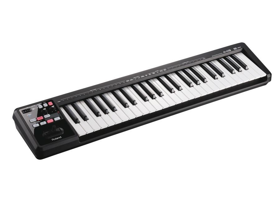 Roland a 49 midi keyboard controller black xl