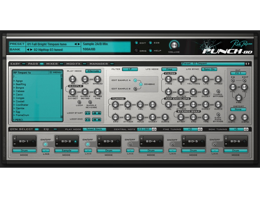Rob Papen Punch-BD Software Drum Synthesizer