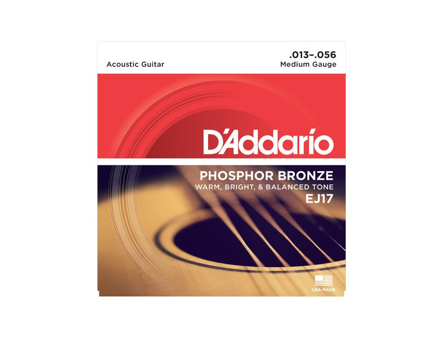 D addario ej17 phosphor bronze acoustic guitar strings xl