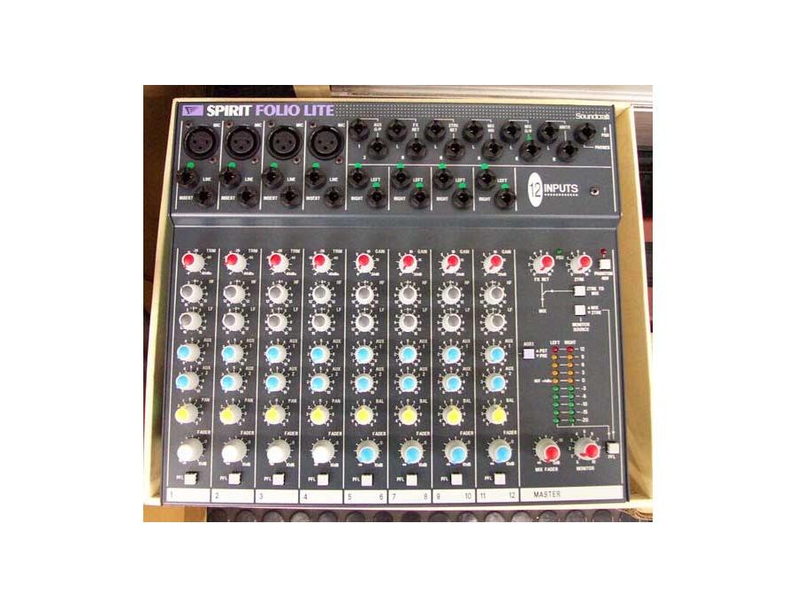 Soundcraft spirit folio lite 12 channel mixer xl