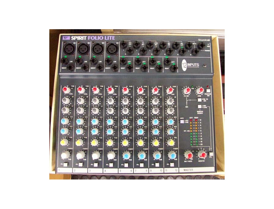 Soundcraft Spirit Folio Lite 12 Channel Mixer