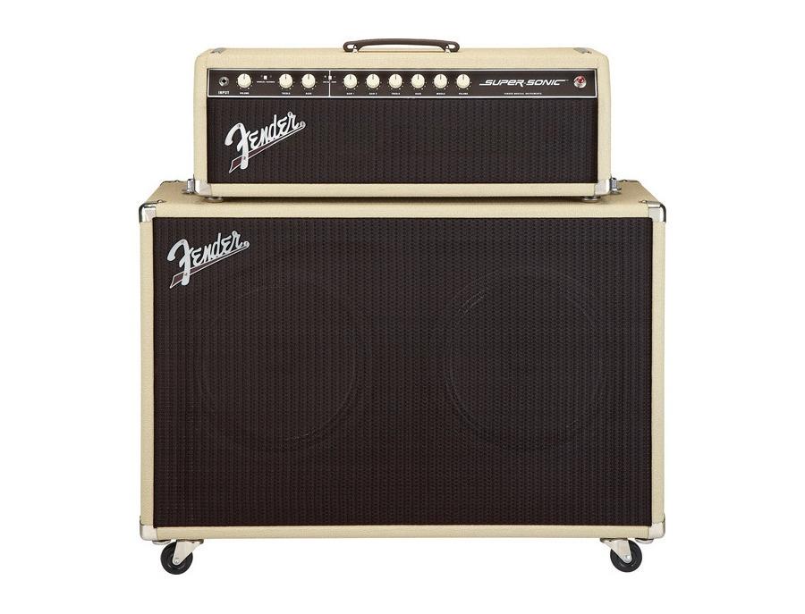 Fender super sonic 60 watt 2x12 cabinet blonde oxblood xl