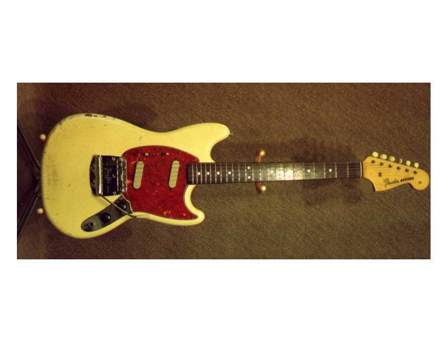 1965 Fender Mustang White Electric Guitar