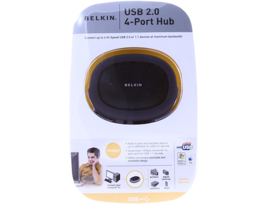 Belkin Hi-Speed USB 2.0 4-Port Hub