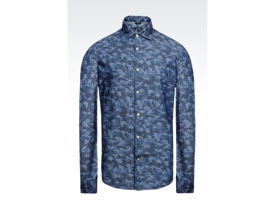Armani Jeans Printed Chambray Shirt
