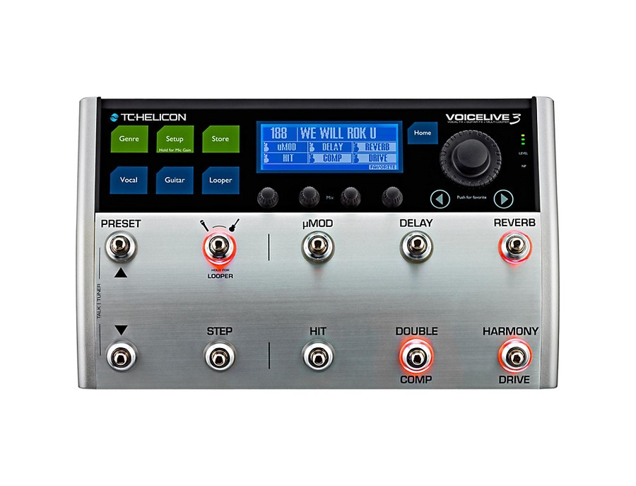 Tc helicon voicelive 3 multi effects pedal xl
