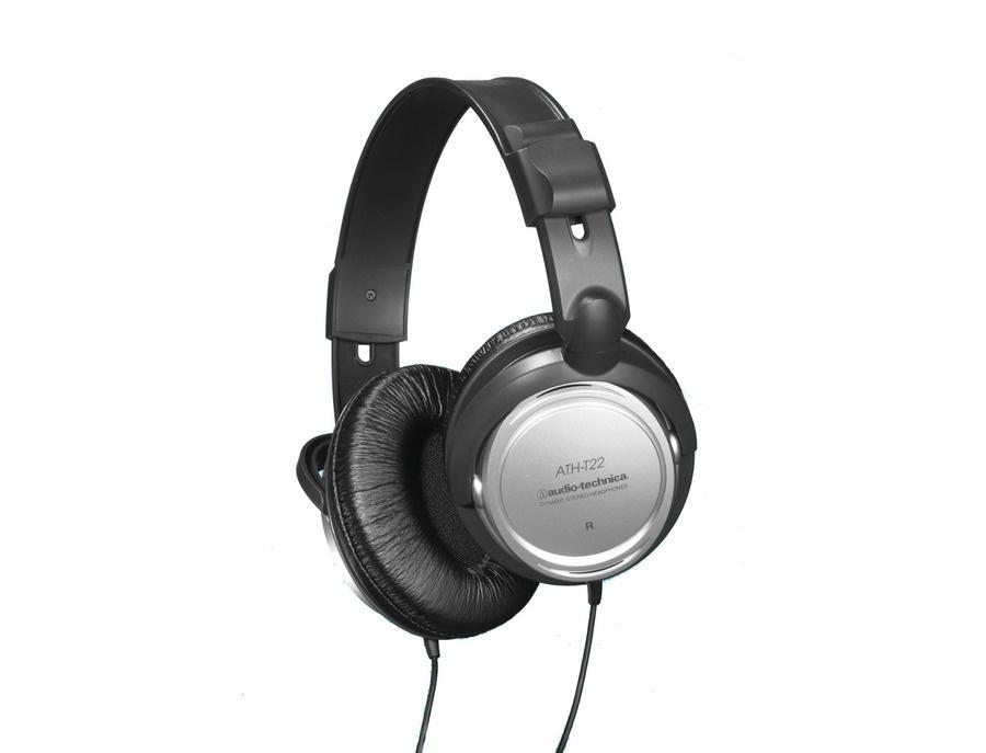 Audio technica ath t22 dynamic stereo headphones xl