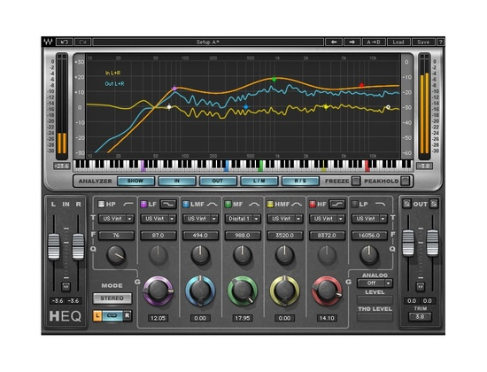 Waves H-EQ Hybrid Equalizer Plugin