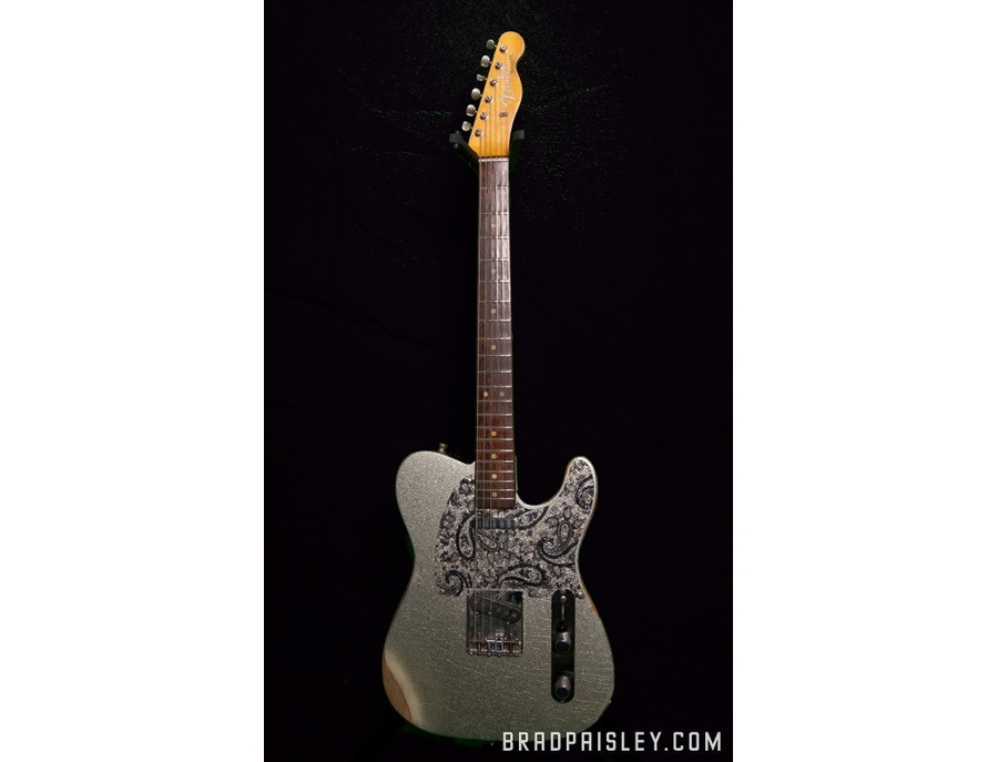 Fender 1962 Silver Sparkle Telecaster Electric Guitar