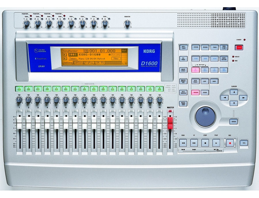 Korg d1600 16 track digital recorder xl