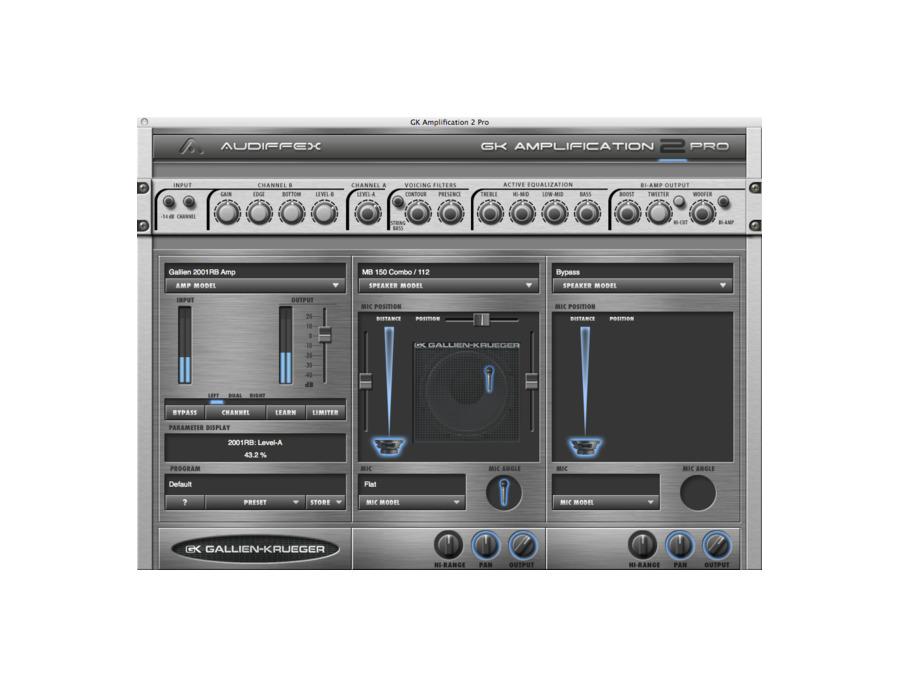 Audiffex gallien krueger amplification 2 pro xl