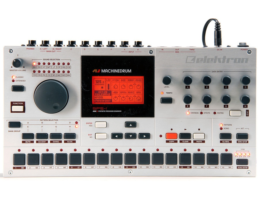Elektron machinedrum sps 1 mkii drum synthesizer sequencer xl