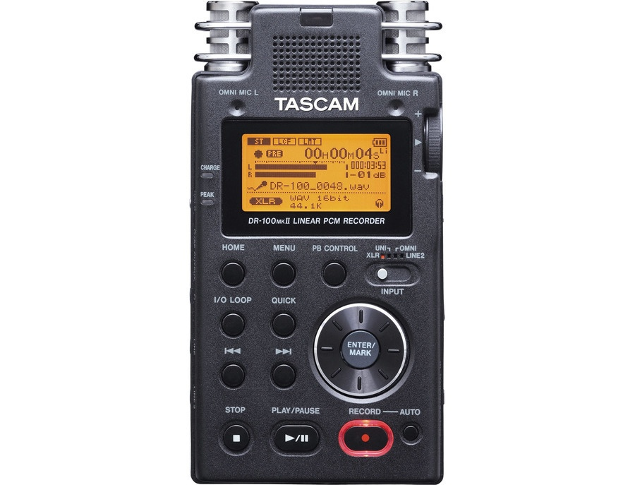 Tascam dr 100mkii portable 2 channel linear pcm recorder xl