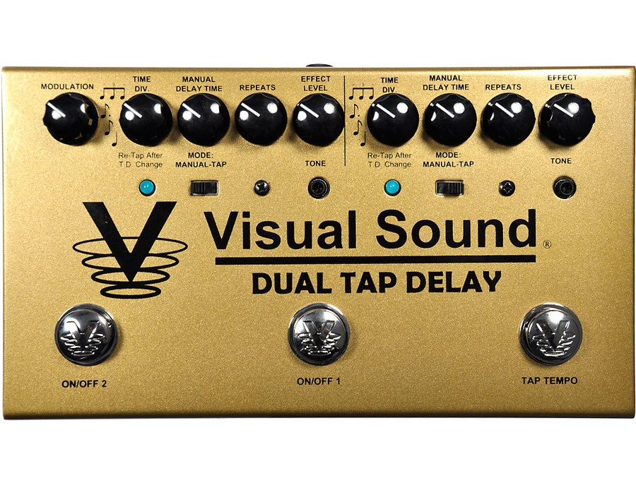 Visual Sound Dual Tap Delay Two-Channel Tap Tempo Delay Pedal
