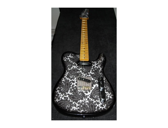 Crook Black and White Paisley Telecaster