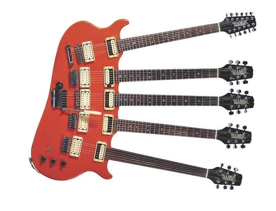 Hamer 5-Neck Electric Guitar