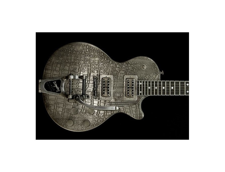James Trussart Steel Deville Gator Engraved w/Bigsby