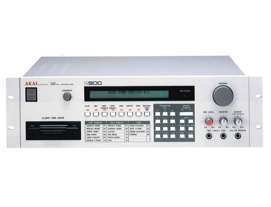 Akai s900 midi digital sampler xl