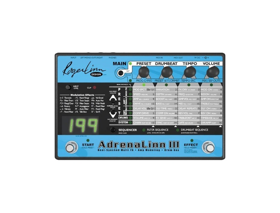 Roger linn design adrenalinn iii guitar effects processor xl