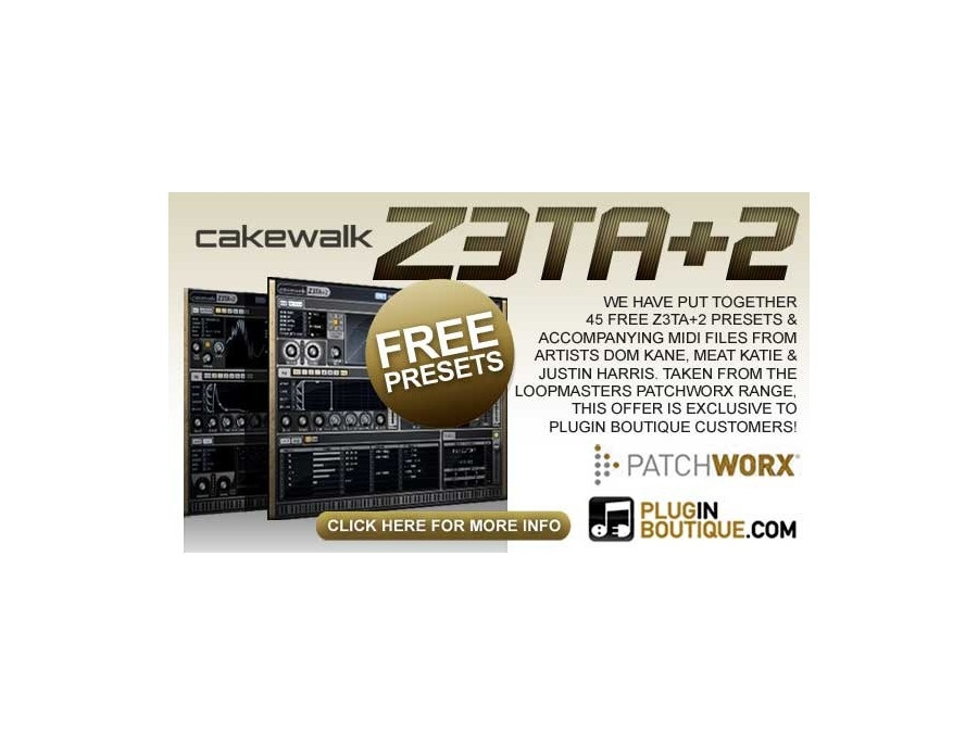 Plugin boutique z3ta 2 free presets xl
