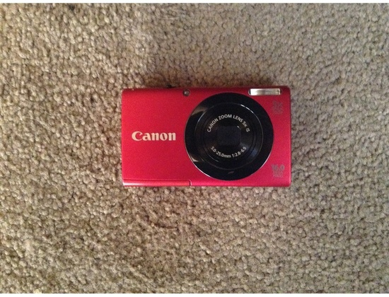 Canon PowerShot A3400 IS HD camera (red)