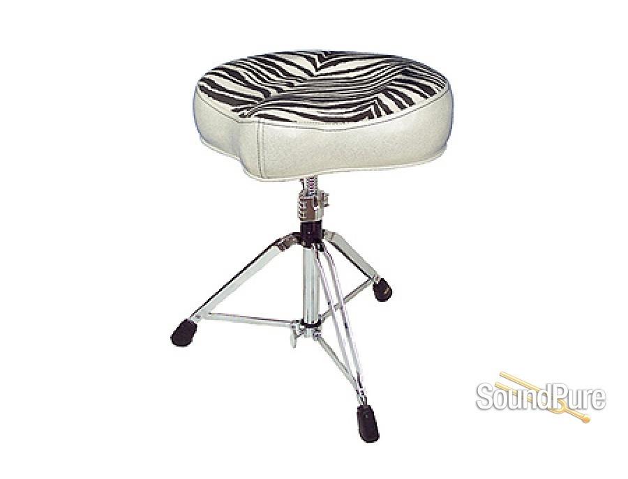 Pork Pie Big Boy Drum Throne Silver/Zebra
