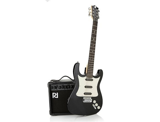 Randy Jackson Diamond Limited Edition Handcrafted Electric Guitar 20-piece Bundle ~ PEARLIZED BLACK