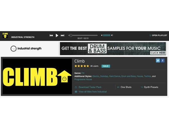 """Industrial Strength's """"Climb"""" Effects Plug-in"""