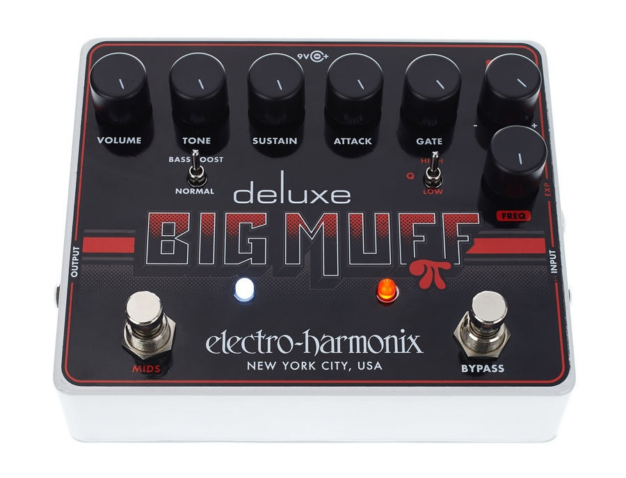 Electro harmonix deluxe big muff pi fuzz pedal with mid shift xl
