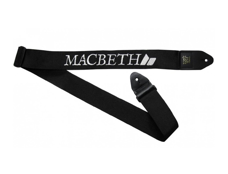 Macbeth Black & White Guitar Strap