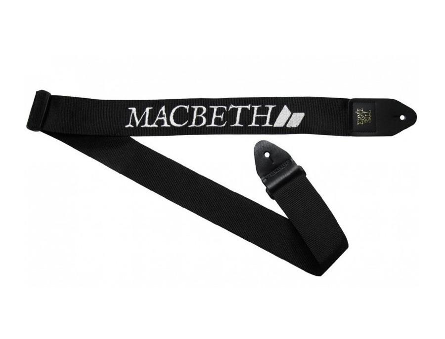 Macbeth black white guitar strap xl