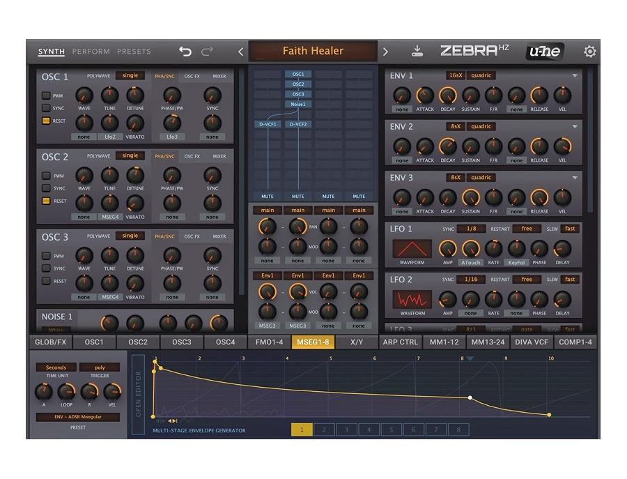 U he zebrahz software synthesizer xl
