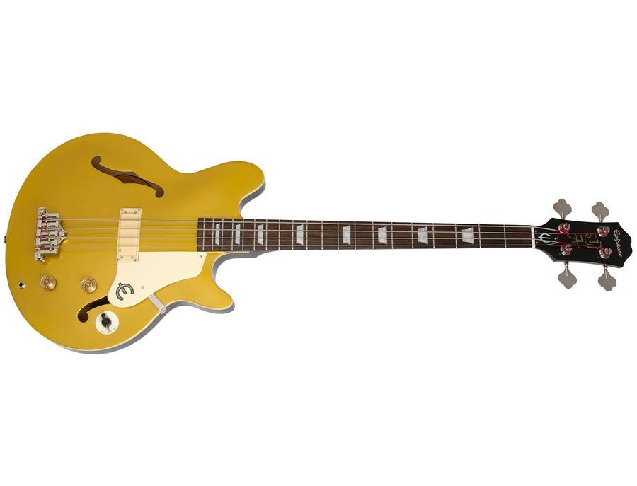 Epiphone jack casady signature model metallic goldtop mg xl