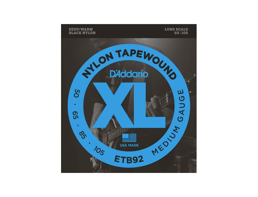 D'Addario ETB92 Tapewound Bass, Medium, 50-105, Long Scale