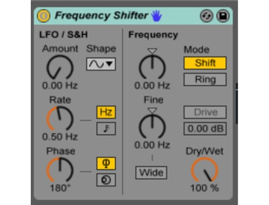 Ableton Frequency Shifter