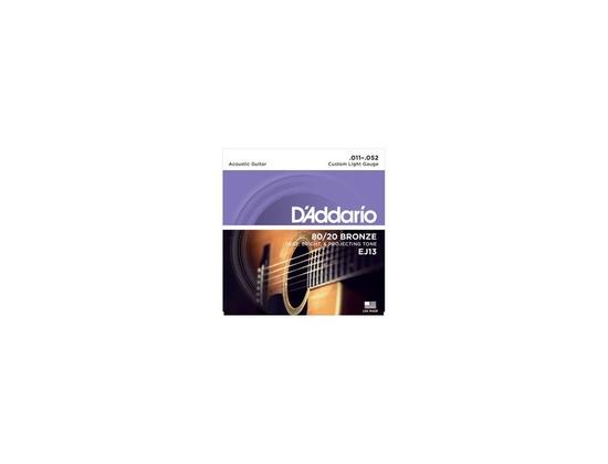 D'Addario EJ13 80/20 Bronze Custom Light Acoustic Guitar Strings