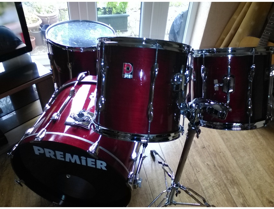 premier xpk drum kit red wood finish