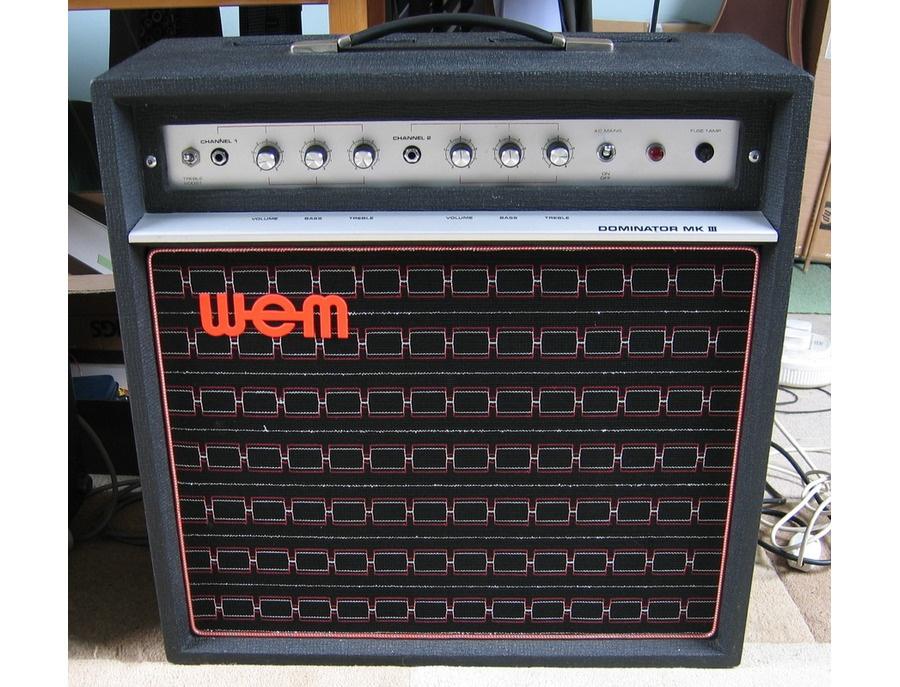 Wem dominator mk iii 15 watt guitar amplifier xl