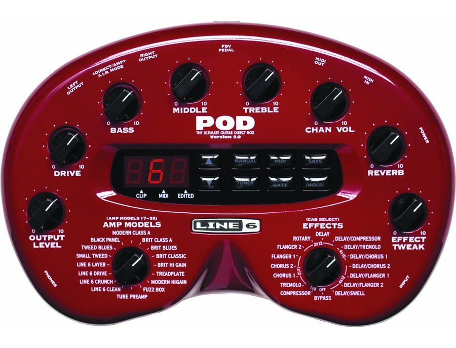 Line 6 pod 2 0 guitar multi effects processor xl