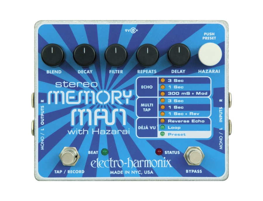Electro harmonix stereo memory man with hazarai xl