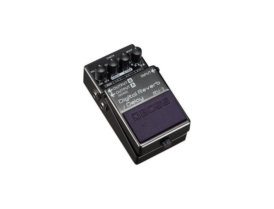 Boss rv 3 digital reverb delay pedal xl