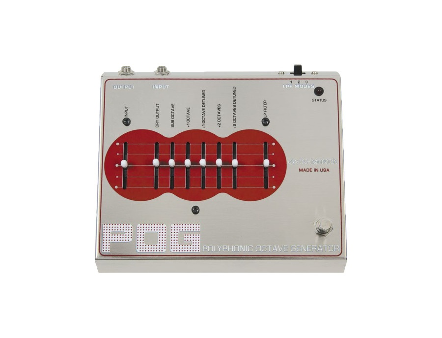 Electro harmonix pog polyphonic octave generator guitar effects pedal xl