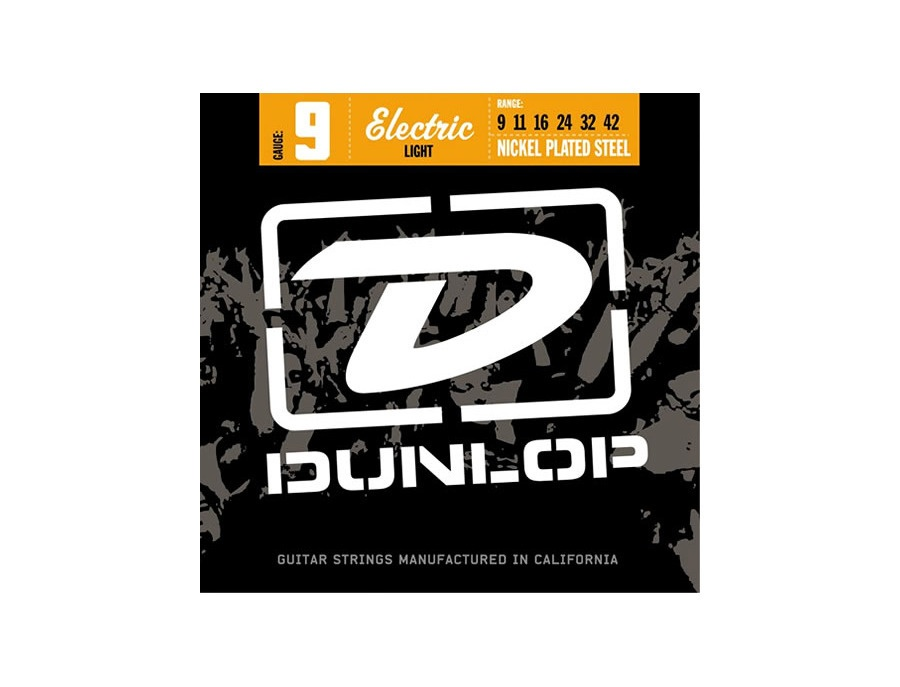 DUNLOP DEN0942 Nickel Plated Steel Electric Guitar Strings, .009-.042 Gauge, Light