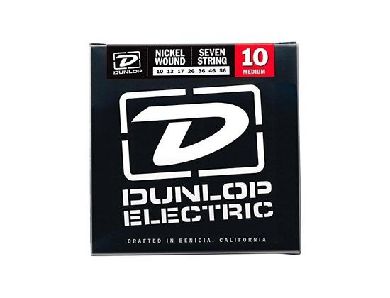 Dunlop DEN1056 Nickel Plated Steel Electric Guitar 7-String Set, .010-.056 Gauge