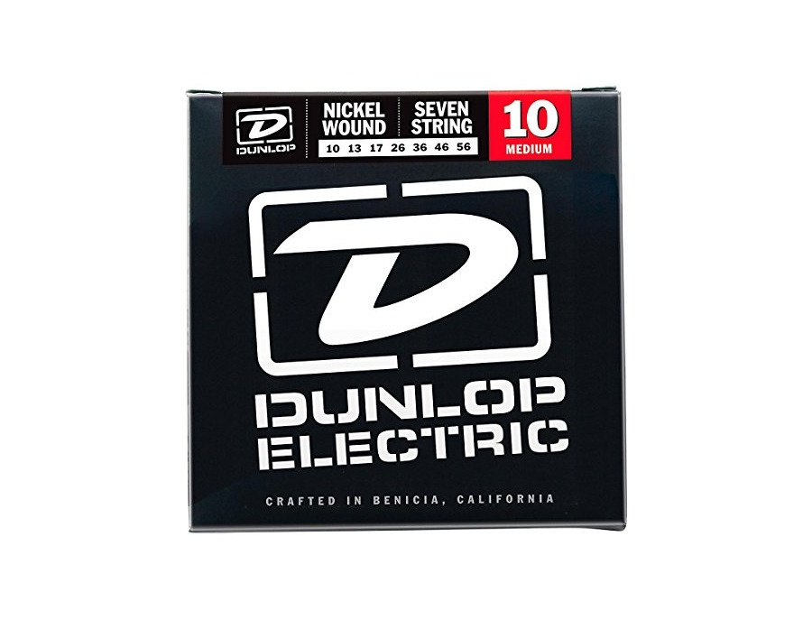 Dunlop DEN1056 Nickel Plated Steel Electric Guitar 7-String Set, .010-.056 Gauge