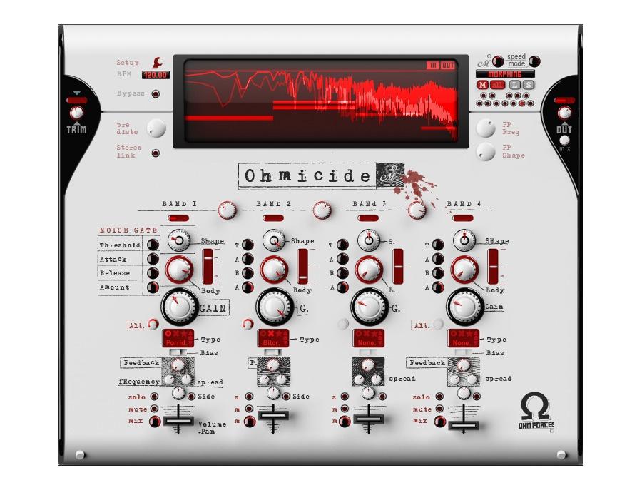 Ohm force ohmicide software distortion plugin xl