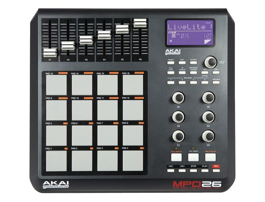 Akai professional mpd26 performance pad controller xl