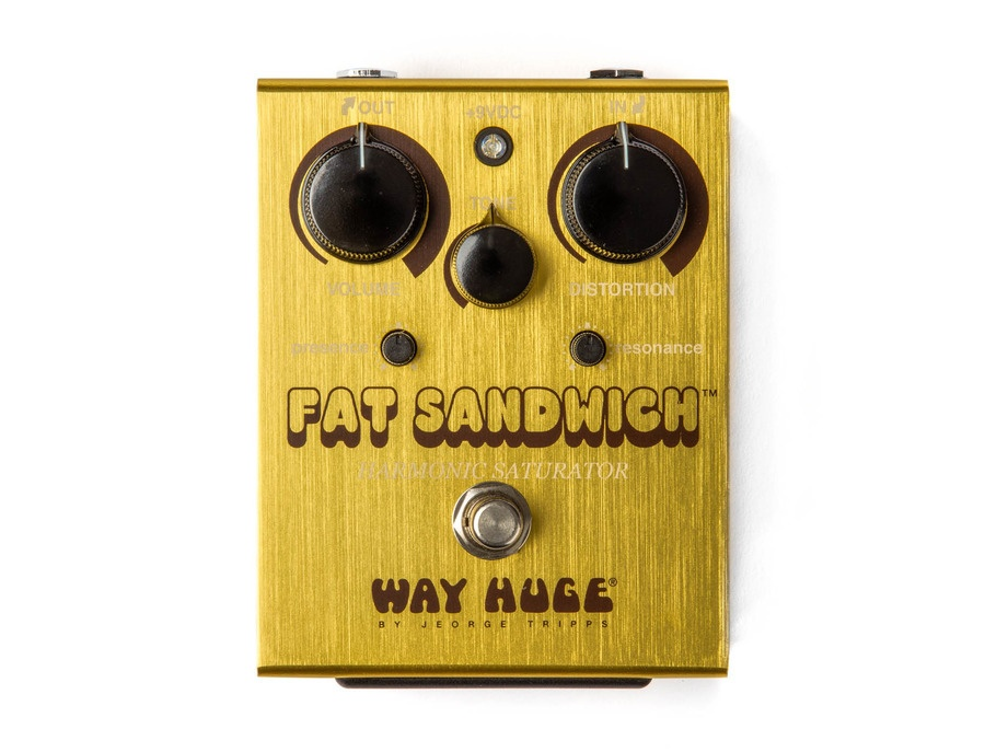 Way Huge Electronics WHE301 Fat Sandwich Harmonic Saturator Distortion Guitar Effects Pedal