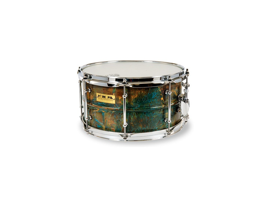Pork Pie Brass Patina Snare Drum 7x13
